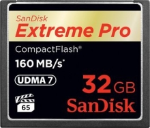 SanDisk Extreme PRO CompactFlash (CF) 32GB (160 MB/s)