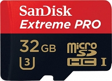 SanDisk microSDHC Extreme Pro 32GB (95MB/s) + adapter SD
