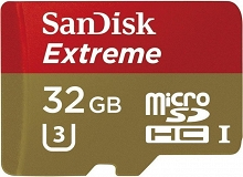 SanDisk microSDHC Extreme 32GB (90 MB/s) + adapter SD
