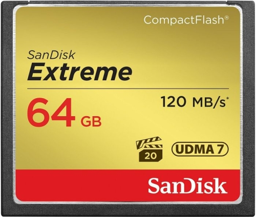 SanDisk Extreme CompactFlash (CF) 64GB (120 MB/s)