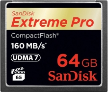 SanDisk Extreme PRO CompactFlash (CF) 64GB (160 MB/s)