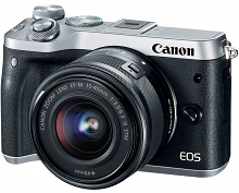 Canon EOS M6 + 15-45 IS STM (srebrny)
